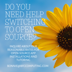 BFC Computing can help you switch to Open Source source solutions for your organization's needs.
